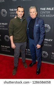 New York, NY - January 16, 2019: Callahan Walsh and John Walsh attend In Pursuit With John Walsh Screening & Conversation at The Paley Center for Media