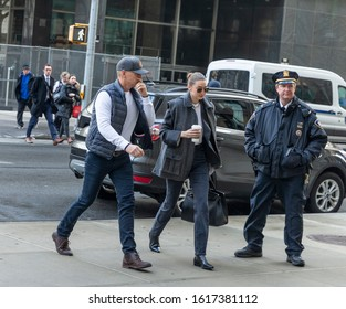 New York, NY - January 16, 2020: Gigi Hadid as potential juror arrives for jury selection of Harvey Weinstein rape and sexual assaults trial at State Criminal Court