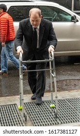 New York, NY - January 16, 2020: Disgraced producer Harvey Weinstein arrives for jury selection of his rape and sexual assaults trial at State Criminal Court