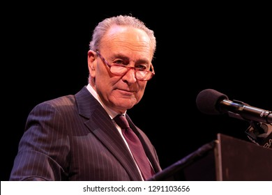 New York, NY - January 21, 2019: US Senator Charles Chuck Schumer speaks during 33rd Brooklyn Tribute to Dr. Martin Luther King at BAM Howard Gilman Opera House