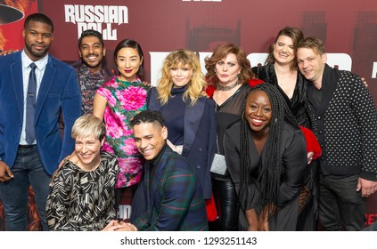 New York, NY - January 23, 2019: Cast attends Russian Doll TV show season premiere at Metrograph