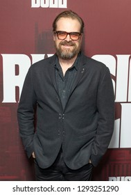 New York, NY - January 23, 2019: David Harbour attends Russian Doll TV show season premiere at Metrograph