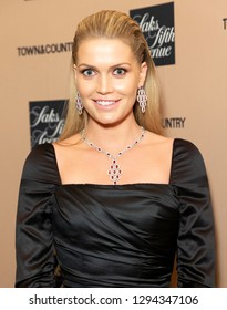New York, NY - January 24, 2019: Lady Kitty Spencer wearing dress by Dolce & Gabbana attends 2019 Town & Country Jewelry Award at Gold Room of The Standard