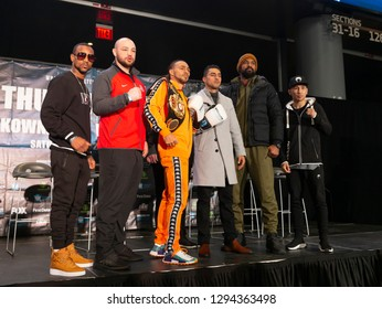 New York, NY - January 24, 2019: Boxers attend Press Conference for WBA World Welterweight Championship at Barclays Center