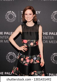 New York, NY - January 24, 2019: Ellie Kemper attends Kimmy Goes To The Paley Center: A Celebration Of Unbreakable Kimmy Schmidt at Paley Center For Medi