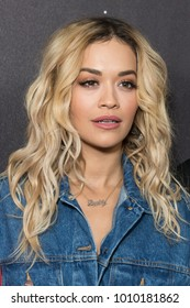 New York, NY - January 25, 2018: Rita Ora attends Delta Airlines hosts Grammy nominated artist Julia Michaels event at Bowery Hotel