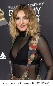 New York, NY - January 25, 2018: Julia Michaels wearing vintage camouflage jump suit attends Delta Airlines hosts Grammy nominated artist Julia Michaels event at Bowery Hotel