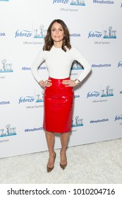 New York, NY - January 25, 2018: Bethenny Frankel wearing Valentino skirt and Louboutin shoes attends Febreze Launches New Super Bowl Ad Campaign at a public appearance at The Ainsworth