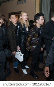 New York, NY - January 27, 2018: Sophie Turner and Joe Jonas attend John Varvatos SS18 ad campaign launch party at The Angel Orensanz Foundation