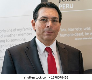 New York, NY - January 28, 2019: Ambassador Danny Danon attends opening of exhibit Beyond Duty: Righteous Diplomats among the Nations at United Nations  headquarters