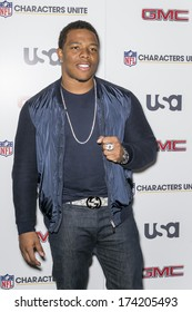 NEW YORK, NY - JANUARY 30, 2014: Ray Rice attends the 3rd Annual NFL Characters Unite at Sports Illustrated