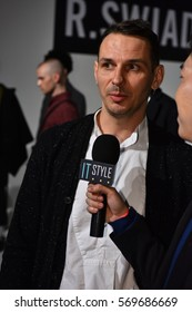 NEW YORK, NY - JANUARY 30: Designer at R Swiader Presentation during NYFW: Mens on January 30, 2017 in New York City.