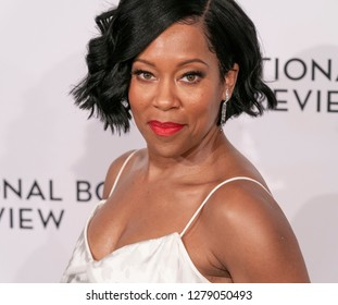 New York, NY - January 8, 2019: Regina King wearing dress by Zac Posen attends National Board of Review 2019 Gala at Cipriani 42nd street