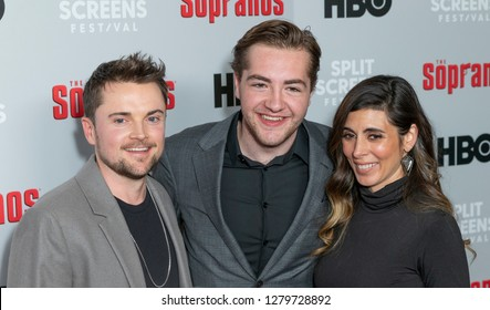 New York, NY - January 9, 2019: Robert Iler, Michael Gandolfini, Jamie-Lynn Sigler attend The Sopranos 20th Anniversary screening and discussion at SVA Theater