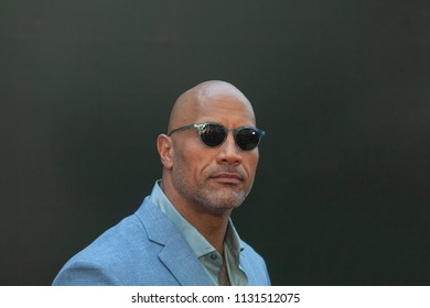 New York, NY - July 10, 2018: Dwayne Johnson attends the premiere of Skyscraper at AMC Loews Lincoln Center