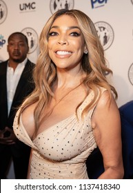 New York, NY - July 18, 2018: Wendy Williams wearing dress by Norma Kamali attends Wendy Williams and The Hunter Foundation gala at Hammerstein Ballroom