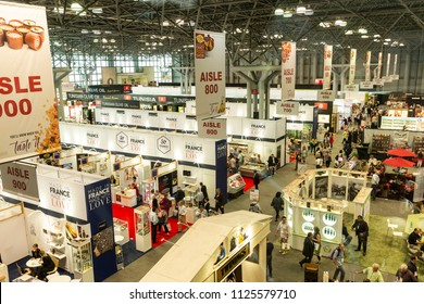 New York, NY - July 2, 2018: General view of the New York 2018 Summer Fancy Food Show at Jacob Javits Center
