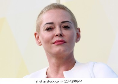 NEW YORK, NY - JULY 21, 2018:  Rose McGowan attends OZY Fest in Central Park on July 21, 2018, in New York.