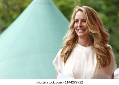 NEW YORK, NY - JULY 21, 2018: Laurene Powell Jobs attends OZY Fest in Central Park on July 21, 2018, in New York.