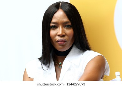 NEW YORK, NY - JULY 21, 2018:  Naomi Campbell attends OZY Fest in Central Park on July 21, 2018, in New York.