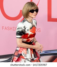 New York, NY - June 03, 2019: Anna Wintour attends 2019 CFDA Fashion Awards at Brooklyn Museum