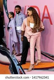 New York, NY - June 03, 2019: Jhene Aiko, Kerby Jean-Raymond, ASAP Ferg and  Joan Smalls attend 2019 CFDA Fashion Awards at Brooklyn Museum