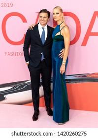 New York, NY - June 03, 2019: Karolina Kurkova and Archie Drury attend 2019 CFDA Fashion Awards at Brooklyn Museum