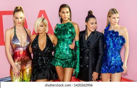 New York, NY - June 03, 2019: Hannah Ferguson, Bebe Rexh, Cindy Bruna, Angelys Balek and Nadine Leopold attend 2019 CFDA Fashion Awards at Brooklyn Museum