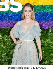 New York, NY - June 09, 2019: Rachel Brosnahan attends the 73rd Annual Tony Awards at Radio City Music Hall
