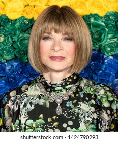 New York, NY - June 09, 2019: Anna Wintour attends the 73rd Annual Tony Awards at Radio City Music Hall