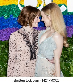 New York, NY - June 09, 2019: Rachel Brosnahan(R) and guest attend the 73rd Annual Tony Awards at Radio City Music Hall
