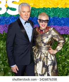 New York, NY - June 09, 2019: Baz Luhrmann and Catherine Martin attend the 73rd Annual Tony Awards at Radio City Music Hall