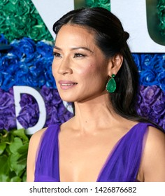 New York, NY - June 09, 2019: Lucy Liu attends the 73rd Annual Tony Awards at Radio City Music Hall