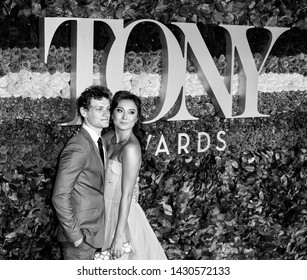 New York, NY - June 09, 2019:  Benjamin Tyler Cook and Ashley Park attend the 73rd Annual Tony Awards at Radio City Music Hall