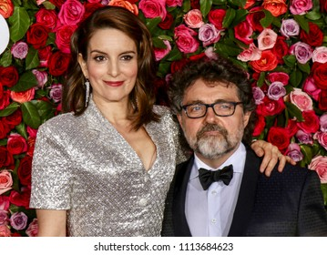 New York, NY - June 10, 2018: Tina Fey and Jeff Richmond attend the 72nd Annual Tony Awards at Radio City Music Hall