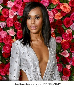 New York, NY - June 10, 2018: Kerry Washington attends the 72nd Annual Tony Awards at Radio City Music Hall