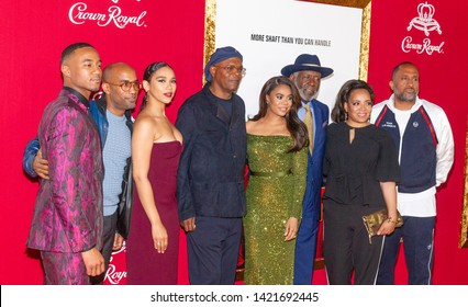 New York, NY - June 10, 2019: Cast attends the Shaft Premiere at AMC Lincoln Square Theater