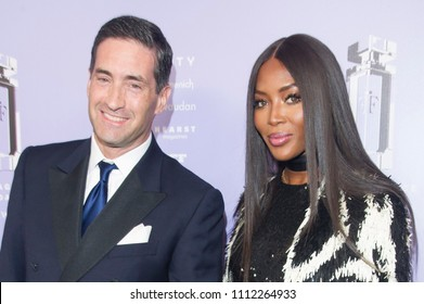 NEW YORK, NY - JUNE 12: VP, Firmenich Theo Spilka and Model, Presenter Naomi Campbell attend 2018 Fragrance Foundation Awards at Alice Tully Hall at Lincoln Center on June 12, 2018 in New York City.