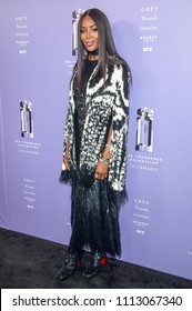 New York, NY - June 12, 2018: Naomi Campbell wearing dress by Alexander McQueen attends 2018 Fragrance Foundation Awards at Alice Tully Hall at Lincoln Center