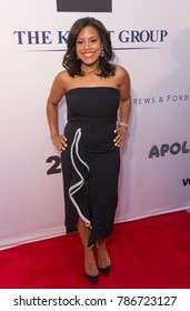 New York, NY - June 12, 2017: Sheinelle Jones attends the Apollo Spring Gala 2017 at The Apollo Theater
