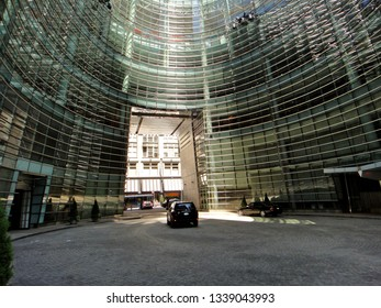 New York, NY - June 18 2012: The gate at Bloomberg Tower in Midtown Manhattan