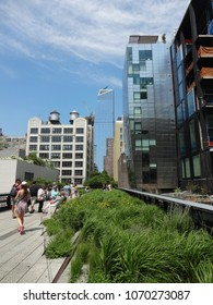 NEW YORK, NY - JUNE 2017: The Elevated High Line Park in New York City