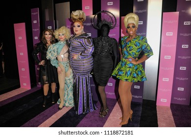 NEW YORK, NY - JUNE 21: Kameron Michaels, Aquaria, Eureka O'Hara, Asia O'Hara and Monet X Change attend VH1 Trailblazer Honors 2018 at The Cathedral of St. John the Divine on June 21, 2018 in NYC.