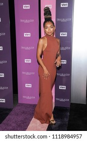New York, NY - June 21, 2018: Logan Browning attends VH1 Trailblazer Honors 2018 at The Cathedral of St. John the Divine