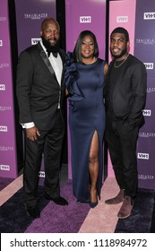 New York, NY - June 21, 2018: Tracy Martin, Sabrina Fulton, Jahvaris Fulton attend VH1 Trailblazer Honors 2018 at The Cathedral of St. John the Divine