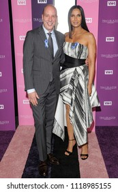 New York, NY - June 21, 2018: Anthony Romero and Padma Lakshmi attend VH1 Trailblazer Honors 2018 at The Cathedral of St. John the Divine