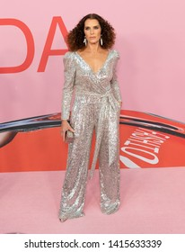 New York, NY - June 3, 2019: Brooke Shields wearing dress by Sachin & Babi attends 2019 CFDA Fashion Awards at Brooklyn Museum
