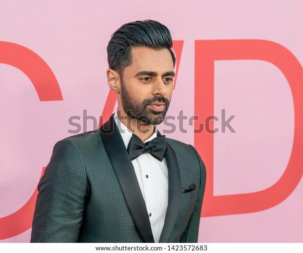 New York, NY - June 3, 2019: Hasan Minhaj attend 2019 CFDA Fashion Awards at Brooklyn Museum