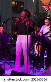 NEW YORK, NY - JUNE 30, 2014: Romelda Benjamin performs at Broadway Sings For Pride benefit concert at Toshi's Living Room at The Flatiron Hotel