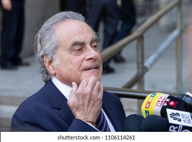 New York, NY - June 5, 2018: Harvey Weinstein attorney Benjamin Brafman speaks to reporters after his client was arraigned on rape and criminal sex act charges at State Supreme Court